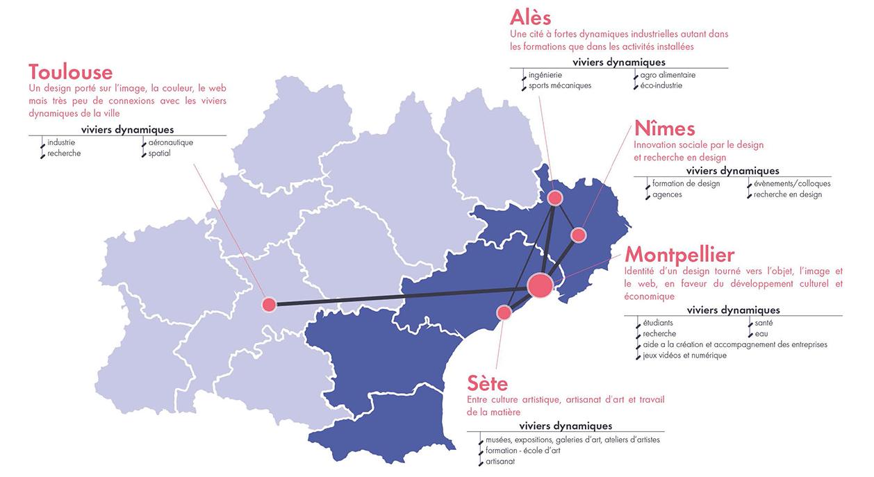 carte des viviers dynamiques de la région Occitanie